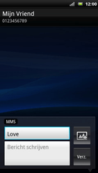Sony Ericsson R800 Xperia Play - MMS - hoe te versturen - Stap 8