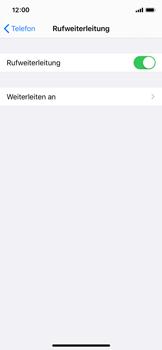 Apple iPhone X - iOS 13 - Anrufe - Rufumleitungen setzen und löschen - Schritt 6