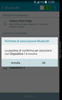 Samsung Galaxy Note Edge - Bluetooth - Collegamento dei dispositivi - Fase 7
