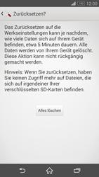 Sony Xperia Z3 Compact - Fehlerbehebung - Handy zurücksetzen - 9 / 11