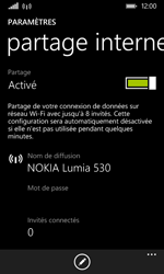 Nokia Lumia 530 - Internet et connexion - Partager votre connexion en Wi-Fi - Étape 9