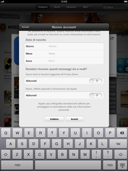 Apple iPad mini - Applicazioni - Configurazione del negozio applicazioni - Fase 18
