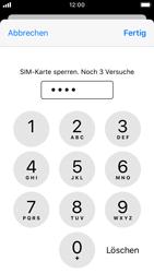 Apple iPhone SE - iOS 13 - Startanleitung - So aktivieren Sie eine SIM-PIN - Schritt 7