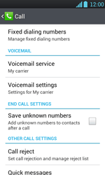 LG P700 Optimus L7 - Voicemail - Manual configuration - Step 5