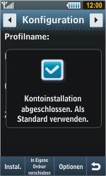Samsung S8000 Jet - Internet - Automatische Konfiguration - Schritt 8