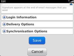 BlackBerry 9320 Curve - E-mail - Manual configuration - Step 14