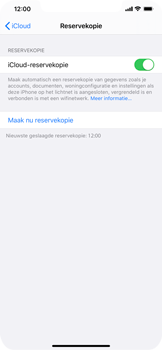 Apple iPhone XS Max - iOS 13 - toestel resetten - back-up maken met jouw account - stap 16
