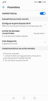 Huawei P20 lite - Internet et connexion - Partager votre connexion en Wi-Fi - Étape 10