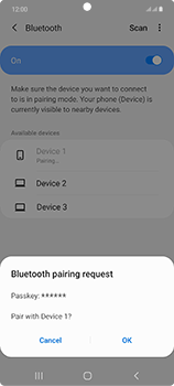 Samsung Galaxy Note 20 5G - Bluetooth - Connecting devices - Step 8