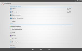 Sony Xperia Tablet Z2 LTE - Ausland - Im Ausland surfen – Datenroaming - 6 / 13