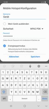 Samsung Galaxy S20 Plus 5G - WiFi - So aktivieren Sie einen WLAN-Hotspot - Schritt 9
