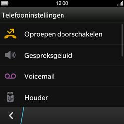 BlackBerry Q10 - Voicemail - Handmatig instellen - Stap 6