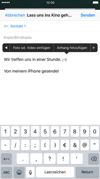 Apple iPhone 6s Plus - E-Mail - E-Mail versenden - 0 / 0