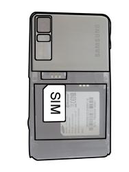 Samsung F480-TouchWiz - SIM-Karte - Einlegen - Schritt 3