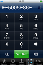 Apple iPhone 4 - Voicemail - Manual configuration - Step 6