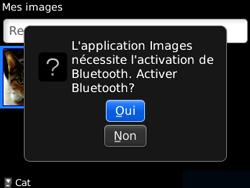 BlackBerry curve 3G - Photos, vidéos, musique - Envoyer une photo via Bluetooth - Étape 8