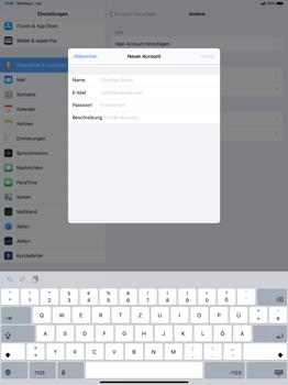 Apple iPad Pro 12.9 (2018) - ipados 13 - E-Mail - Manuelle Konfiguration - Schritt 7
