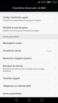 Huawei Mate S - Messagerie vocale - configuration manuelle - Étape 6