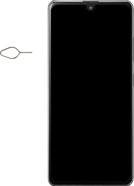 Samsung Galaxy A41 Dual-SIM (SM-A415F) - Instellingen aanpassen - SIM-Kaart plaatsen - Stap 2
