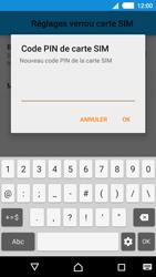 Sony Xperia M4 Aqua - Sécuriser votre mobile - Personnaliser le code PIN de votre carte SIM - Étape 9