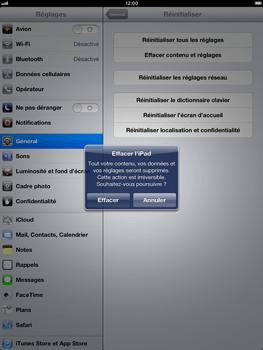 Apple iPad Retina - Téléphone mobile - Réinitialisation de la configuration d