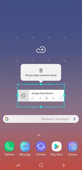 Samsung Galaxy Note9 - Operazioni iniziali - Installazione di widget e applicazioni nella schermata iniziale - Fase 9