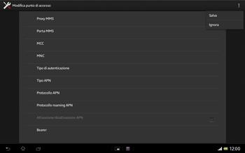 Sony Xperia Tablet Z LTE - Internet e roaming dati - Configurazione manuale - Fase 15
