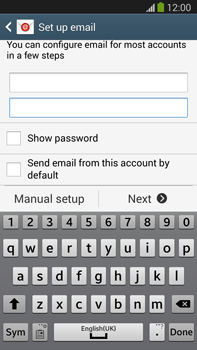 Samsung Galaxy Note III LTE - E-mail - manual configuration - Step 6