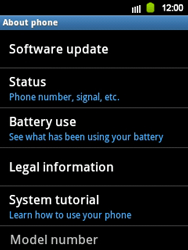 Samsung Galaxy Y - Software - Installing software updates - Step 6