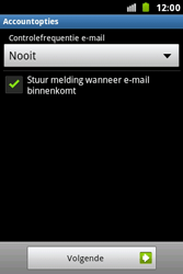 Samsung S7500 Galaxy Ace Plus - e-mail - handmatig instellen - stap 15