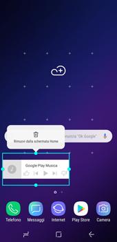 Samsung Galaxy S9 - Operazioni iniziali - Installazione di widget e applicazioni nella schermata iniziale - Fase 9