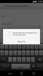 Sony Xperia V - E-Mail - Manuelle Konfiguration - Schritt 9