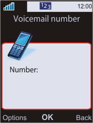 Sony W595 - Voicemail - Manual configuration - Step 6