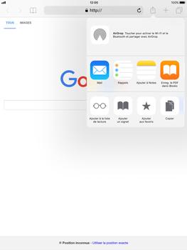Apple iPad Pro 9.7 - iOS 11 - Internet - navigation sur Internet - Étape 5