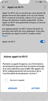 Huawei P20 - Android Pie - WiFi - Activez WiFi Calling - Étape 8