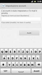 Sony Xperia S - E-mail - Configurazione manuale - Fase 16