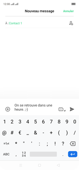 Oppo Reno 2Z - Contact, Appels, SMS/MMS - Envoyer un SMS - Étape 11