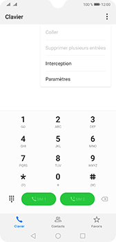 Huawei Mate 20 - Messagerie vocale - configuration manuelle - Étape 5