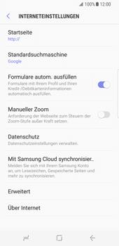 Samsung Galaxy S8 - Datenschutz und Sicherheit - Datenschutzeinstellungen des Browsers ändern - 8 / 18