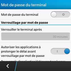 BlackBerry Q10 - Sécuriser votre mobile - Activer le code de verrouillage - Étape 6