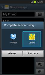 Samsung I8730 Galaxy Express - MMS - Sending pictures - Step 15