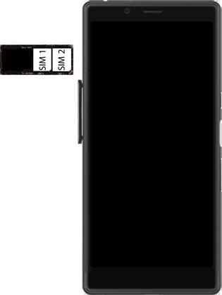 Sony Xperia L3 - SIM-Karte - Einlegen - Schritt 6