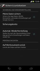 Sony Xperia V - Gerät - Zurücksetzen auf die Werkseinstellungen - Schritt 5