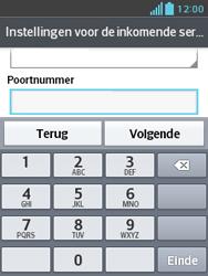 LG E430 Optimus L3 II - E-mail - Handmatig instellen - Stap 12