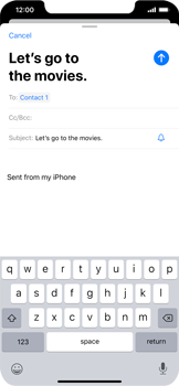 Apple iPhone 11 - Email - Sending an email message - Step 7