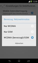 Sony Xperia E1 - Netzwerk - Netzwerkeinstellungen ändern - Schritt 7