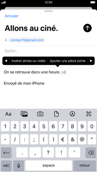 Apple iPhone 8 Plus - iOS 13 - E-mail - envoyer un e-mail - Étape 9