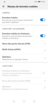 Huawei P Smart Z - Aller plus loin - Désactiver les données à l'étranger - Étape 5