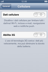 Apple iPhone 3GS - Internet e roaming dati - Configurazione manuale - Fase 5