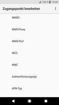 Sony Xperia XA2 Ultra - MMS - Manuelle Konfiguration - Schritt 12